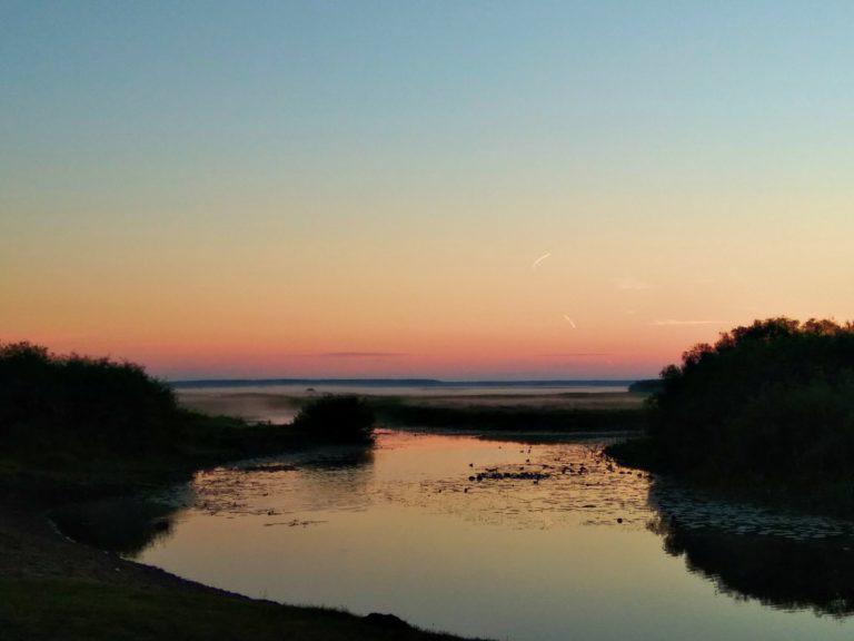 Zachód słońca nad Biebrzą