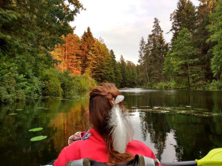 Spływ Biebrzą przez las