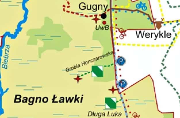 Grobla Honczarowska mapa