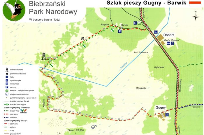 Szlak Barwik Mapa