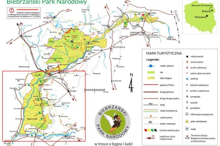 Biebrzański Park Narodowy szlaki wodne