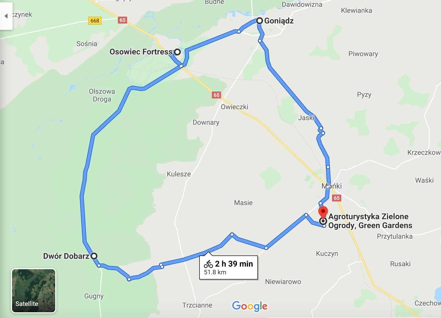 Biebrzański Park Narodowy - jednodniowa trasa rowerowa
